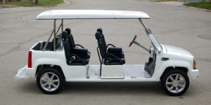 cadillac escalade limo golf cart, escalade limo golf cart